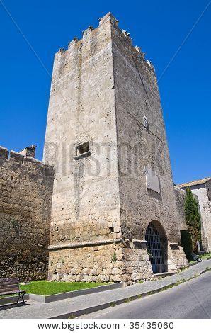 Dante's tower. Tarquinia. Lazio. Italy.
