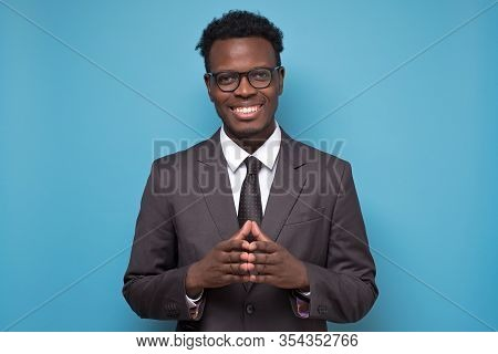 Successful Smiling Cheerful African American Businessman Executive