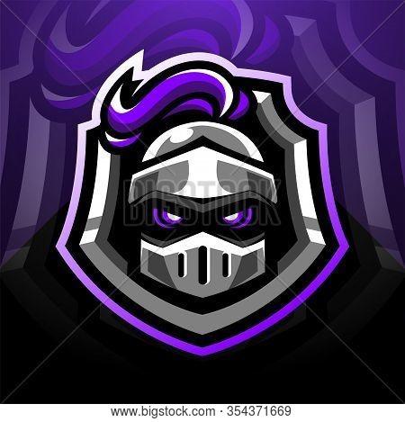 Guardian Head Esports Mascot Logo Design With Text