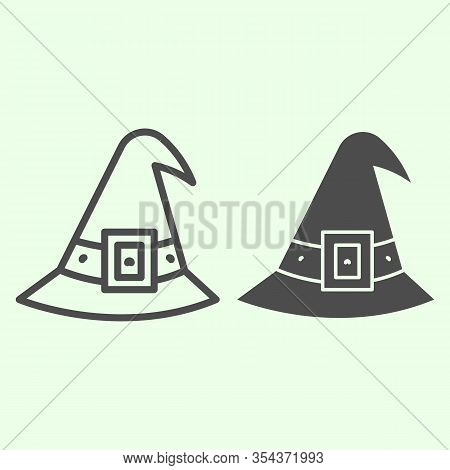Witch Hat Line Solid Vector Photo Free Trial Bigstock