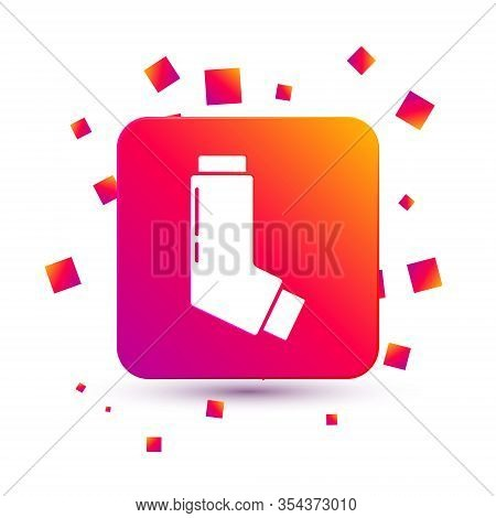 White Inhaler Icon Isolated On White Background. Breather For Cough Relief, Inhalation, Allergic Pat