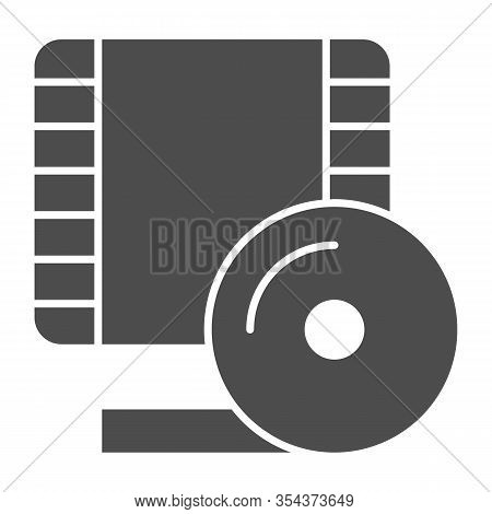 Videotape Frame Solid Icon. Film Strip Symbol, Glyph Style Pictogram On White Background. Multimedia