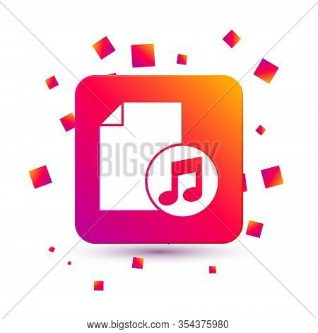 White Music Book With Note Icon Isolated On White Background. Music Sheet With Note Stave. Notebook
