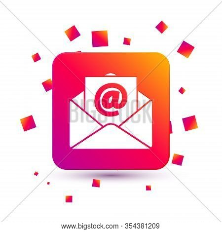 White Mail And E-mail Icon Isolated On White Background. Envelope Symbol E-mail. Email Message Sign.