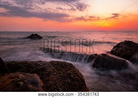 Ocean, Coastline, Seascape, Colorful, Background, Beach, Beautiful, Blue, Blurred, Calming, Cloud, C