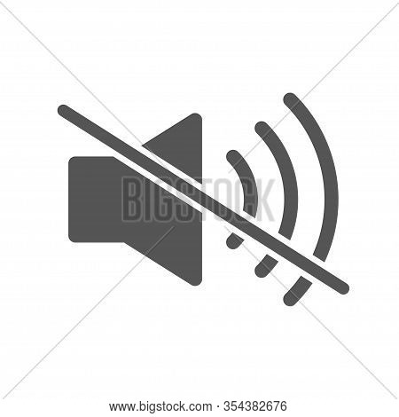 Mute Sound Icon Vector, Filled Flat Sign. Speaker Mute Symbol, Logo Illustration. Volume Off Icon. E