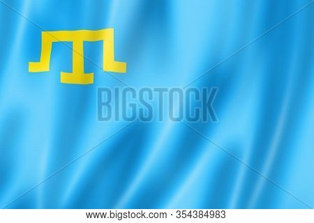Crimean Tatar People Ethnic Flag. 3d Illustration