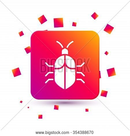 White System Bug Concept Icon Isolated On White Background. Code Bug Concept. Bug In The System. Bug