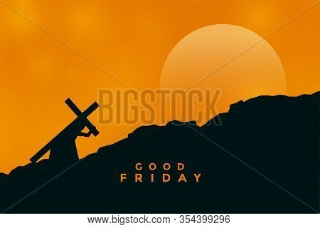 Jesus Christ Carrying Cross For His Crucifixion