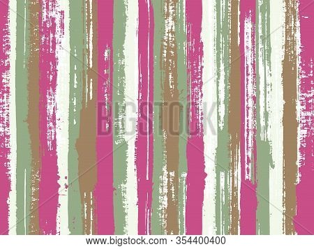 Watercolor Strips Seamless Vector Background. Bright Wall Graffiti Drawing Illustration. Freehand Tr