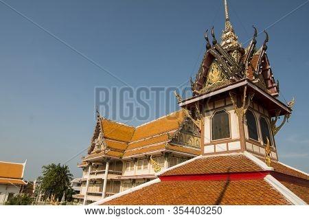 The Wat Hua Hin In The Town Of Hua Hin In The Province Of Prachuap Khiri Khan In Thailand.   Thailan