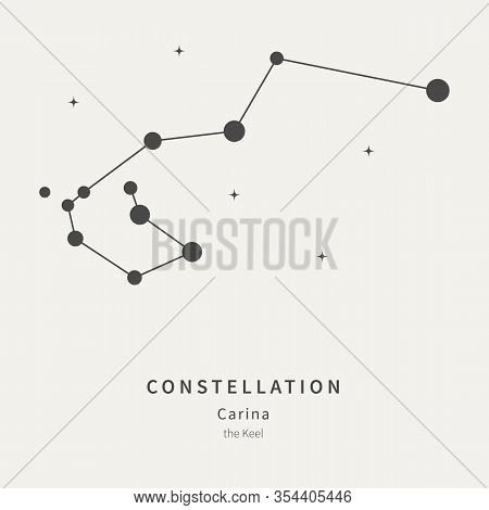 The Constellation Of Carina. The Keel - Linear Icon. Vector Illustration Of The Concept Of Astronomy