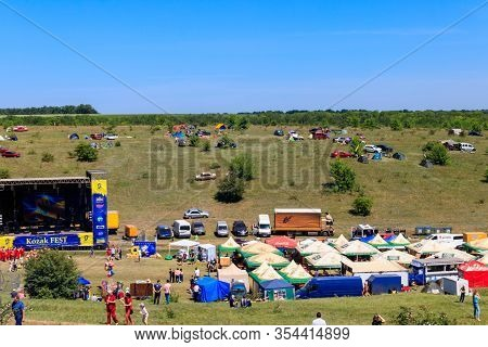 Dnipropetrovsk Region, Ukraine - June 2, 2018: View Of The Outdoor Free Ethno-rock Festival Kozak Fe