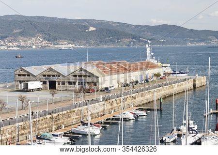 Vigo, Spain - Jan 24, 2020: Casa Pepe Ship Chandler Company Warehouse On January 24, 2020 At Transat