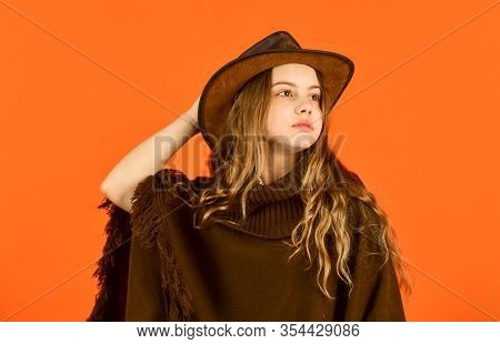 Looking Trendy This Fall Season. Vintage Concept. Confident And Ambitious. Teen In Hat. Stylish Look