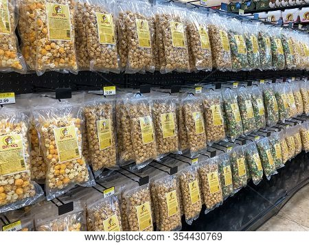 New Braunfels, Tx - 22 Feb 2020: Bags Of Popcorn For Sale At Retail Store.