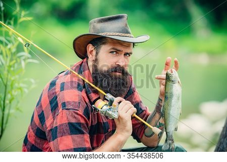Bearded Fisher. Male Hobby. Successful Fly Fishing. Fisher Masculine Hobby. Home Of Hobbies. Life Is