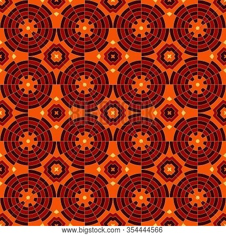 Bright Ethnic Abstract Backdrop. Colorful Kaleidoscope Seamless Pattern With Decorative Round Orname