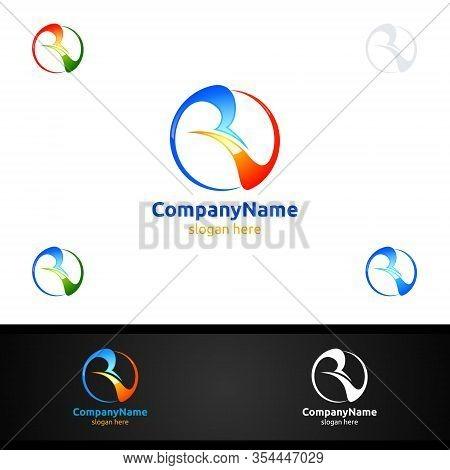 Letter V,r, Vr For Digital Vector Logo, Marketing, Financial, Advisor Or Invest Design Icon