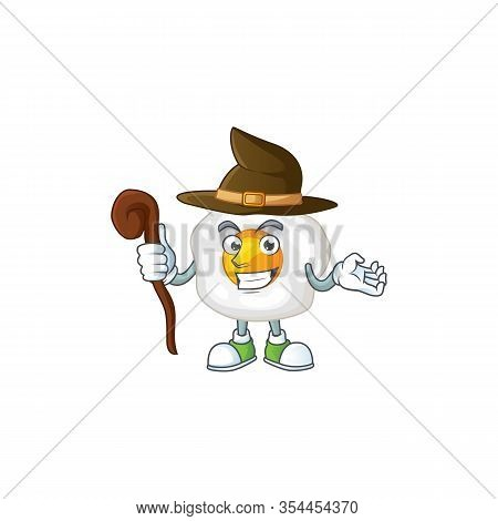 Sweet And Tricky Witch Fried Egg Cartoon Character