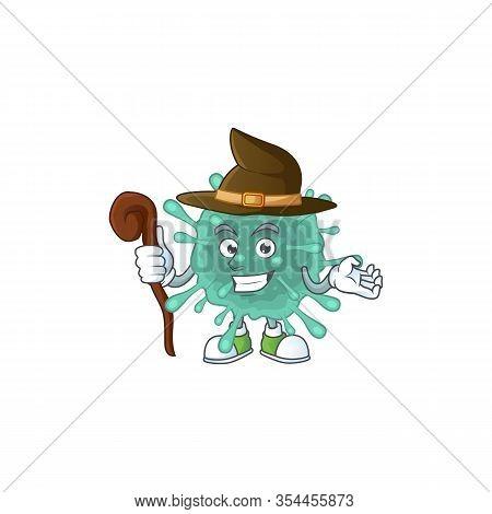 Sweet And Tricky Witch Coronaviruses Cartoon Character