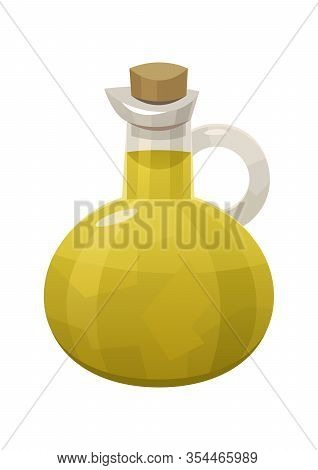 Olive Oil Bottle Isolated On White Background Vector