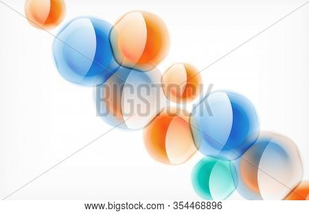 Abstract background - glass shiny transprent hexagon shapes overlapping eath other. Illustration For Wallpaper, Banner, Background, Card, Book Illustration, landing page