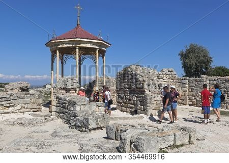 Sevastopol, Crimea, Russia - July 26, 2020: Baptismal Hall In Which Prince Vladimir Was Baptized In