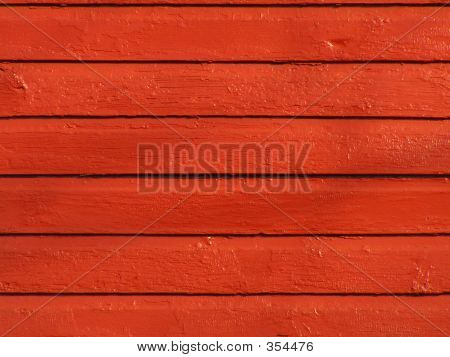Bright Red Wooden Siding