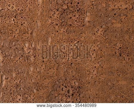 Chocolate Biscuit Texture Background Or Sponge Cake Pattern