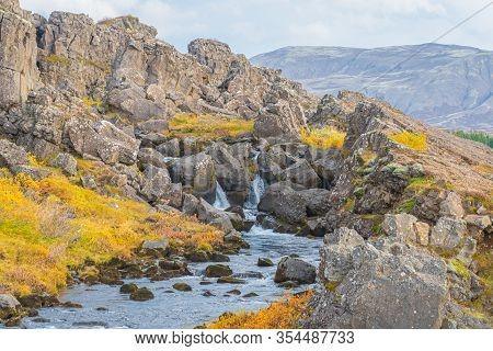 Thingvellir National Park In Iceland Drekkingarhylur