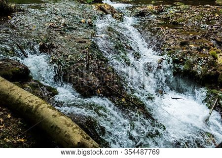 Vaioaga Waterfall From Banat, One Of The Most Beautiful In Romania, Located In The Cheile Nerei-beus