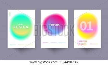 Modern Fluid Background, Circle Neon Illustration, Gradient Vector Flyer, Dynamic Surreal Template