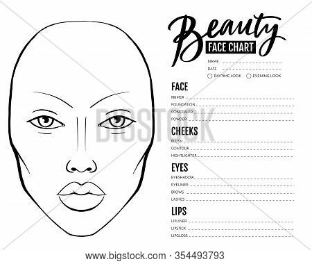 Face Chart Blank Vector Photo Free