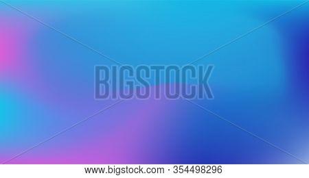 Blue Purple Pink Digital Gradient Background. Liquid Neon Bright Trendy Wallpaper. Pearlescent Noble