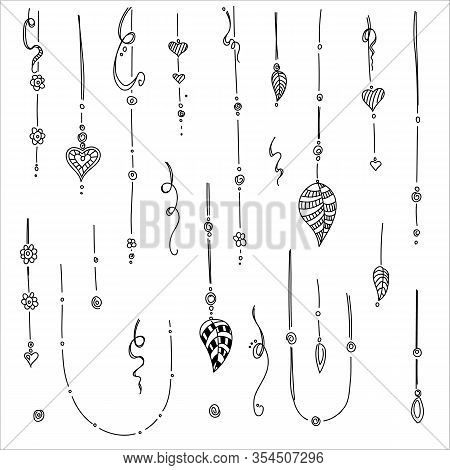 Set Of Hand Drawing Ethnic Mandala Ornament In Ethnic Oriental Style. Decorative Vintage Elements Fo