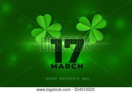 March 17th Happy Saint Patricks Day Background