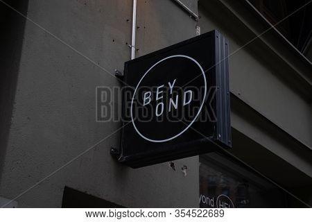 Helsinki, Finland - 3 March 2020: Beyond Logo On Street, Illustrative Editorial