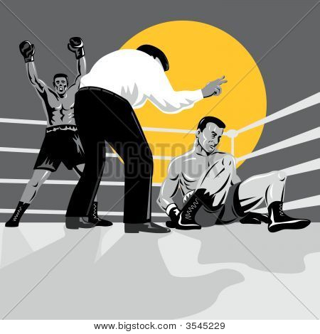 Boxer Being Counted Out