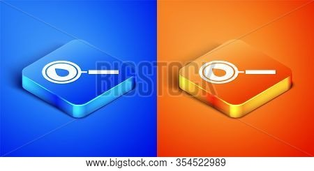 Isometric Oil Drop Icon Isolated On Blue And Orange Background. Geological Exploration, Geology Rese