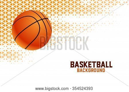 Basketball Championship Tournament Background With Triangle Patterns