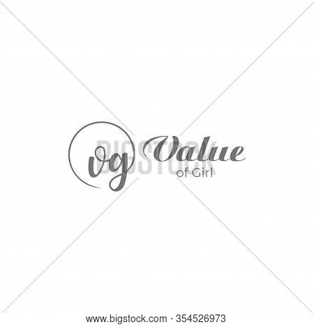 Simple Logo Design Of Letter V And G With White Background - Eps10 - Vector.