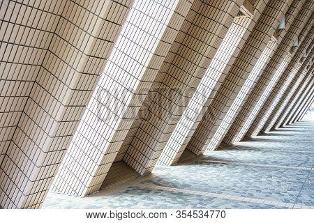 Artistic Architecture Structure Of Hong Kong Cultural Centre, Hong Kong, China