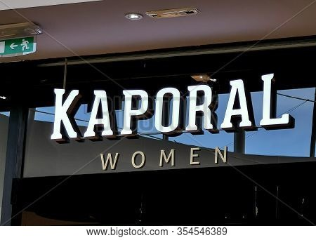 Bordeaux, France, March 07, 2020 : Kaporal Women Shop Logo, Sign On Wall, Sells Jeans, Clothing And