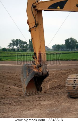 A Big Shovel From A Back Hoe