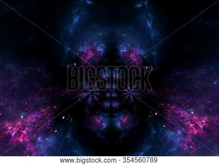 Black Hole, Planets And Galaxy, Science Fiction Wallpaper. Beauty Of Deep Space. Billions Of Galaxy