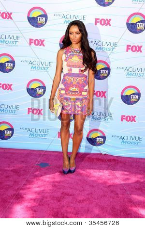 LOS ANGELES - JUL 22:  Kat Graham arriving at the 2012 Teen Choice Awards at Gibson Ampitheatre on July 22, 2012 in Los Angeles, CA