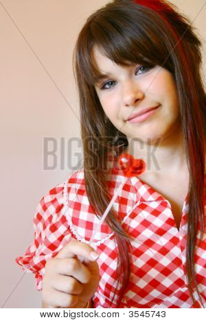 Teen With Lollipop