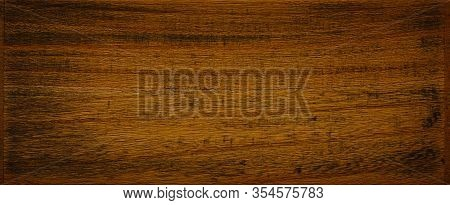 Dark Brown With Remnants Of Black Paint Wooden Background Texture