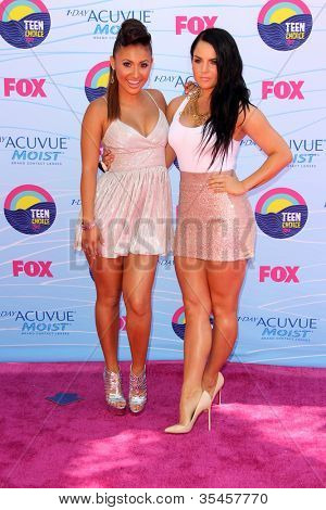 LOS ANGELES - JUL 22:  Francia Raisa, JoJo arriving at the 2012 Teen Choice Awards at Gibson Ampitheatre on July 22, 2012 in Los Angeles, CA